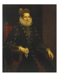 Portrait of a Lady Seated Three-Quarter Length in a Black Dress with a Ruff Art by Peter Paul Rubens