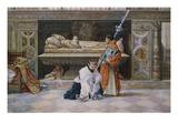 Altar Boys in a Church Interior Giclee Print by Jose Villegas Y Cordero