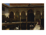 A Court in the Alhambra in the Time of the Moors Poster by Edwin Lord Weeks