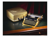 A Royal Quiet De Lux Portable Typewriter, with Gold Plated Body and Fittings, Owned by Ian Fleming Giclee Print
