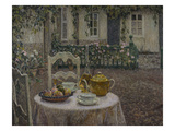 The Pink Tablecloth; La Nappe Rose Giclee Print by Henri Le Sidaner