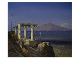 The Bay of Naples, with Vesuvius Beyond, from Capri Giclee Print by Carl Frederik Sorensen