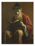 An Ashkenazi Rabbi of Jerusalem Giclee Print by George Sherwood Hunter