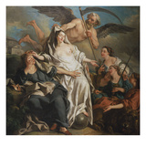 Time Unveiling Truth Giclee Print by Jean Francois de Troy