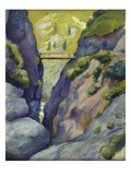 Valley in Tegernse; Schlucht in Tegernse Posters by August Macke