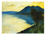 Bergsee at Sunset; Bergsee Am Sonnenuntergang Giclee Print by Lesser Ury