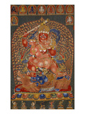 A Fine, and Rare and Important Large Imperial Embroidered Silk Thanka Giclee Print