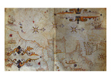 Portolan Atlas of the Mediterranean Print by Augustin Roussin