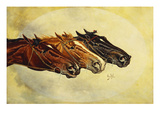 The Celebrated Race Horses 'Henry of Navarre', 'Monitor' and 'Dominoe' Print by Henry Stull