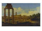 The Forum Romanum with the Capitol, Rome Giclee Print by Pierre Monami
