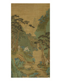 A Scholar Listening to a Waterfall Posters by Li Shizuo