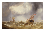 Dismasted in a Storm Off the Kent Coast Posters by Henry Redmore