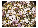 Detail of a 'Magnolia' Leaded Glass and Bronze Floor Lamp by Tiffany Studios Giclee Print