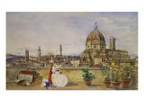 A Terrace Overlooking Florence from the Via Di Servi Prints by Thomas Hartley Cromek