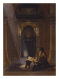 In the Mosque Reproduction procédé giclée par Carl Friedrich Heinrich Werner