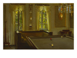 The Billiard Room Giclee Print by Harald Slott-Moller