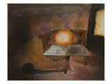 The Lamp on the Terrace; Die Lampe Auf Dem Balcon Poster by Paul Klee