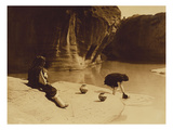At the Old Well at Acoma Premium Giclee Print by Edward S. Curtis