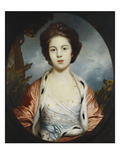 Portrait of Esther, Lady Wray, Wearing a White Dress, and a Gold and Pink Ermine-Lined Cloak, a… Print by Joshua Reynolds