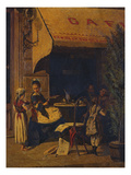 A Viennese Cafe Prints by Johann Hamza