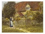 East End Farm, Moss Lane, Pinner Art by Helen Allingham