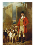 A Kennel Huntsman and Hounds Outside a Dray-Yard Premium Giclee Print by George Sebright