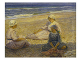 On the Beach Print by Johannes Martin Fastings Wilhjelm