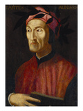 Portrait of Dante, Small - Half Length, Holding a Book Poster by  Italian School