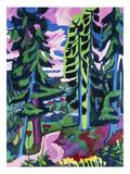 Wildboden (Bergwald; Sommerlicher Waldweg) Print by Ernst Ludwig Kirchner