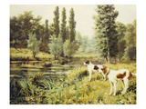 A Point to the Far Riverbank Giclee Print by Percival L. Rosseau