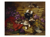 Kittens at Play Giclee Print by Leon Charles Huber
