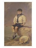 Portrait of a Boy in a Sailor's Suit Giclee Print by Manuel Gonzalez Mendez