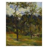 Normandy Landscape; Paysage De Normandie, Vache Dans Un Pre Giclee Print by Paul Gauguin