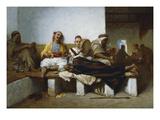 La Cafe Maure Prints by Jean Raymond Hippolyte Lazerges