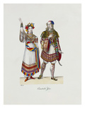 Collection of Fancy-Dress Costumes Prints by Franz Xavier Nachtmann