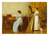 The Music Room Poster by George Goodwin Kilburne
