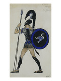 Costume Design for Phaedre; Hippolitus Giclee Print by Leon Bakst