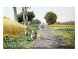 The Young Harvesters Premium Giclee Print by Federico Rossano