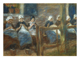 Girls Sewing in Huizen; Nahende Madchen in Huizen Posters by Max Liebermann