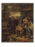 The Hurdy-Gurdy Player Giclee Print by Jan Havicksz. Steen