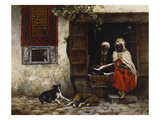 A Visit to the Scribe Giclee Print by Edwin Lord Weeks