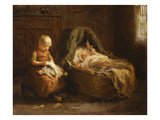 Minding the Baby Giclee Print by Evert Pieters