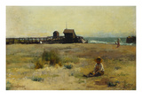 Boy on a Beach Giclee Print by Walter Osborne