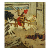 Marcus Curtius; End Panel of a Cassone Giclee Print by  Master of The Hercules Cassone