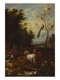 Orpheus Charming the Animals Giclee Print by Lambert De Hondt