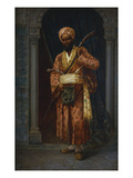 The Arab Guard Lmina gicle por Ludwig Deutsch