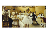 The Royal Theatre's Ballet School Giclee Print by Paul Fischer