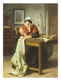 The Seamstress Giclee Print by Jules Trayer