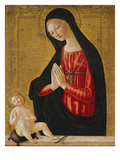 The Madonna Adoring the Child Print by Neroccio Di Landi