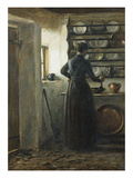 In the Kitchen Giclee Print by Peter Ilsted